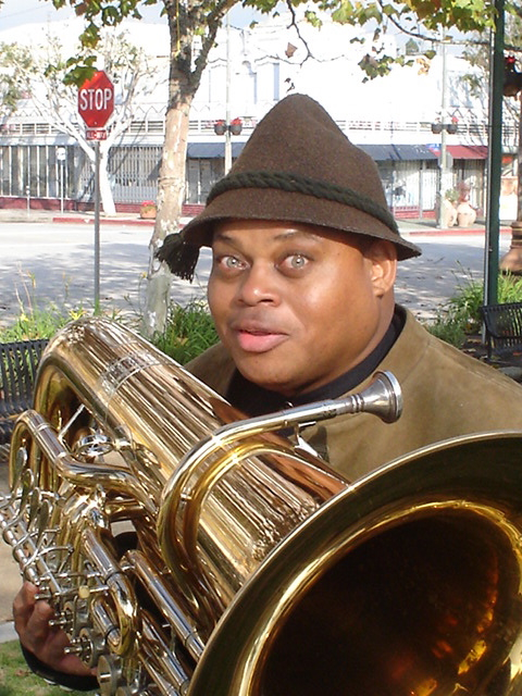 Tuba player William Roper